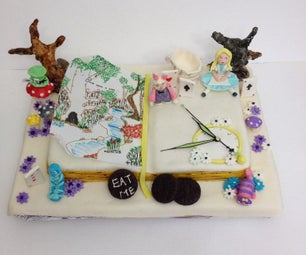 Alice in Wonderland Book Cake