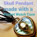 Skull Pendant Made With a Pocket Watch Case