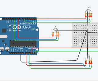 Arduino Traffic Light Controller Using RBG Led | 4-Way