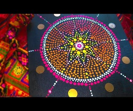 How To Mandala Dot Art On Canvas For Beginner 4 Steps With Pictures Instructables