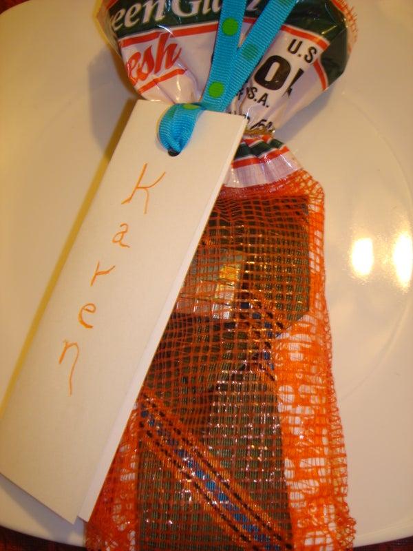 Onion Bag Gift Wrap