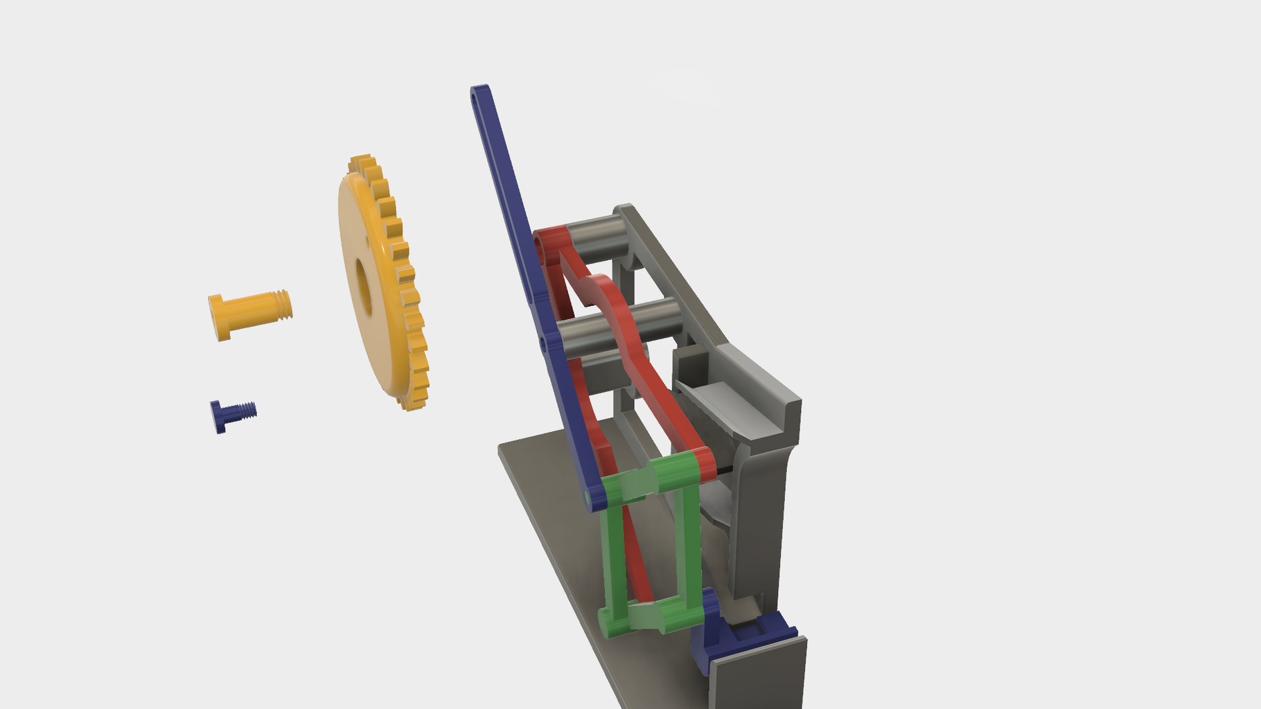 Attach the Mechanism Assembly to the Base.