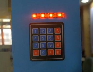 Password Protected Door Locking System