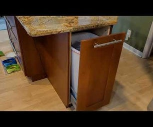 Automatic Opening Garbage Can Cabinet