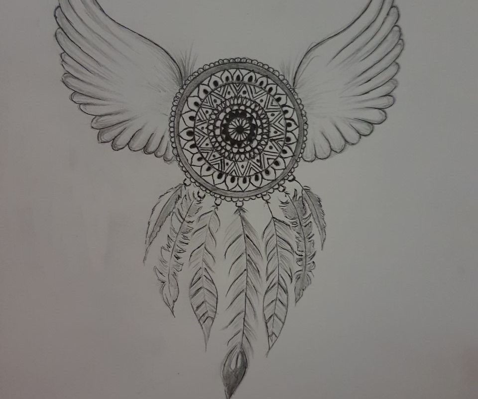 Dreamcatcher Sketch Mandala Style