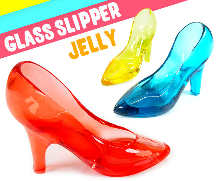 DIY 3D Crystal Glass Slipper Jelly !! Cinderella Glass Slipper Jello