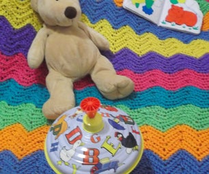 How to Crochet a Colorful, Wavy, Striped Baby Blanket
