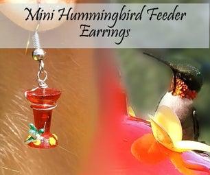 Mini Hummingbird Feeder Earrings