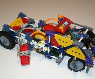 Knex Truck With Differential, Transmission, Engine Comp and Steering System