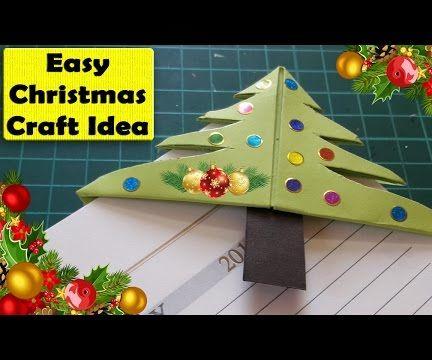 How to make  Easy Christmas Tree Bookmark Corner