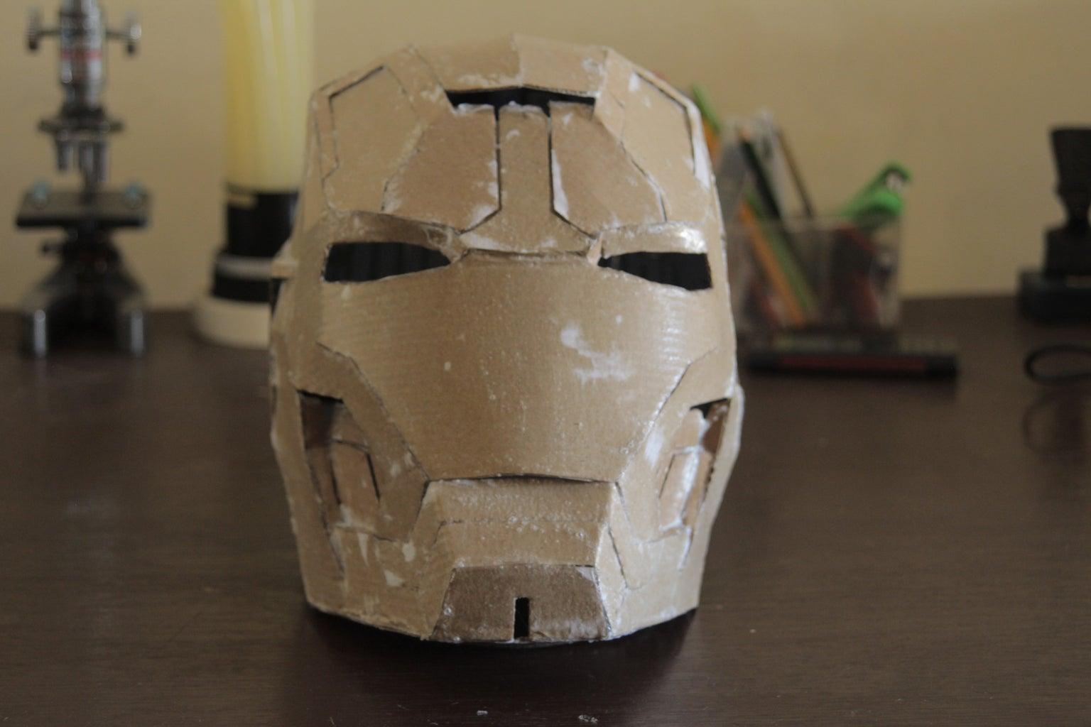Putting PVA Glue on the Helmet