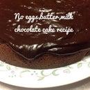 No Milk, Eggs, Butter Chocolate Cake