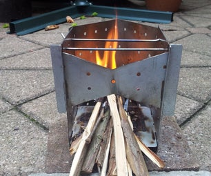 Collapsible Wood Burning Camp Stove (On a Budget!)