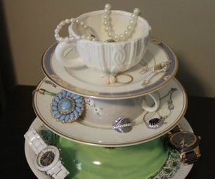 Teacup Jewelry Stand