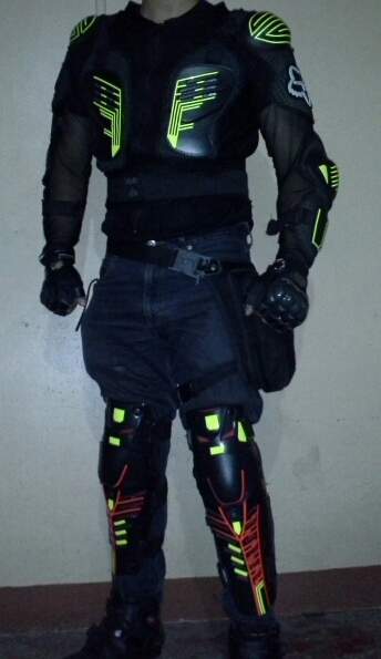 Retro-reflective Body Armor For Night Motorcycle Rides / Costume