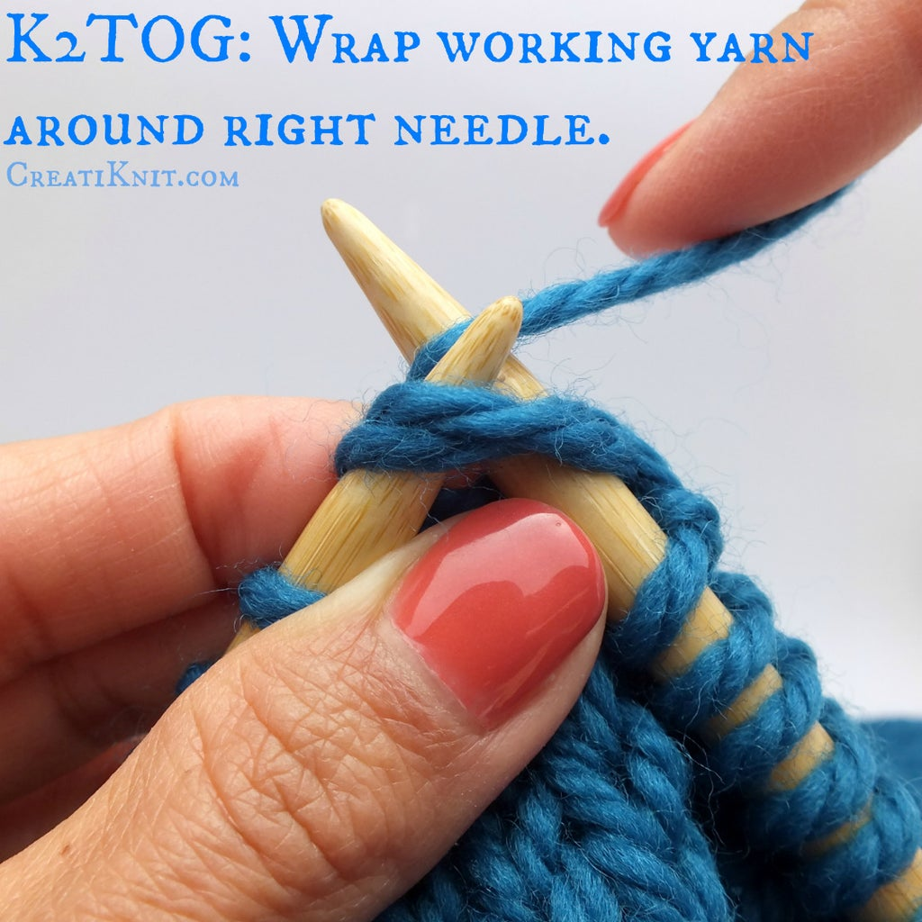Next, Wrap Your Working Yarn Around Your Left Needle As If to Knit