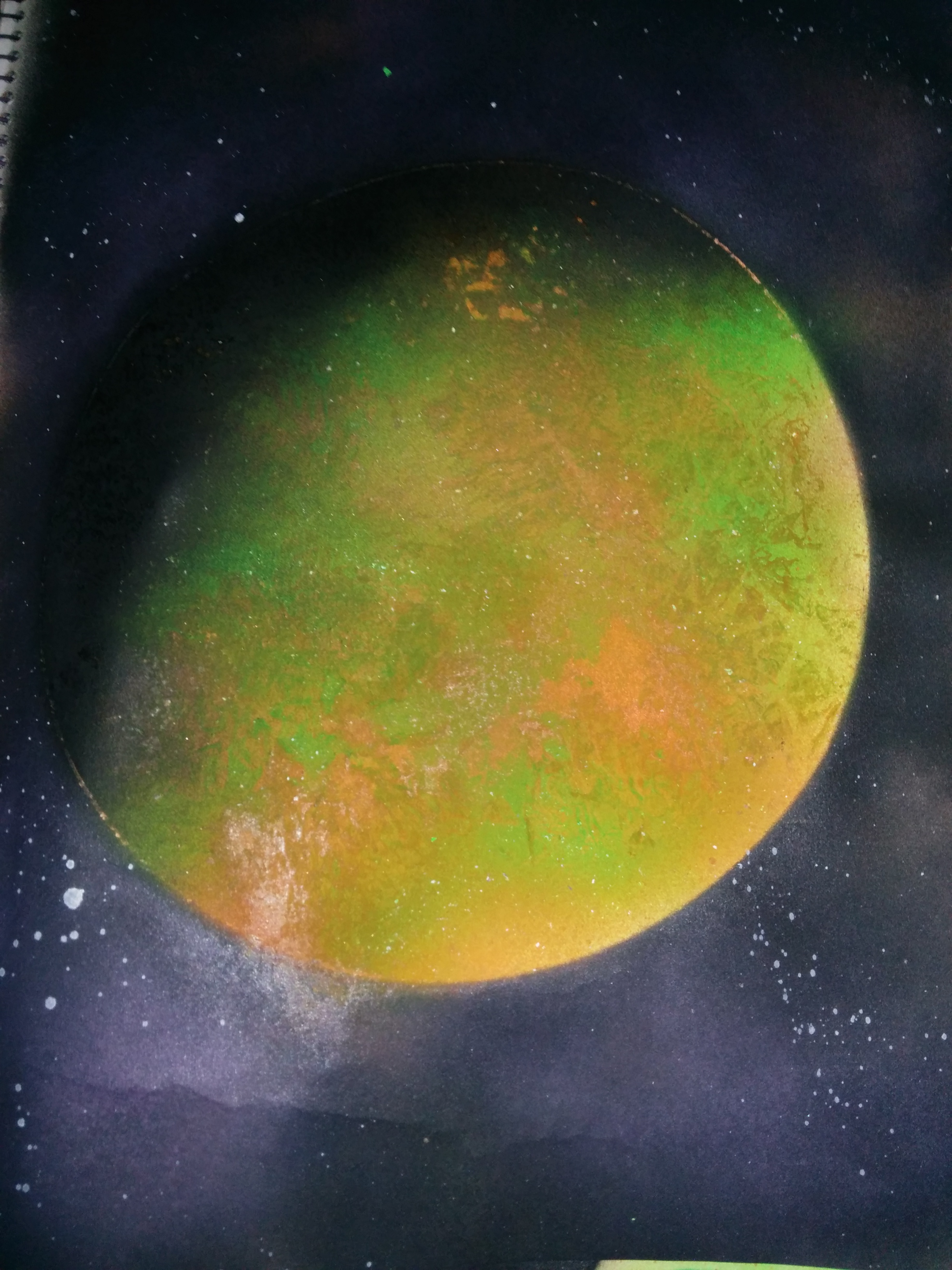 space spray paint tutorial