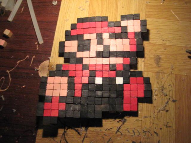 8-bit mario cube