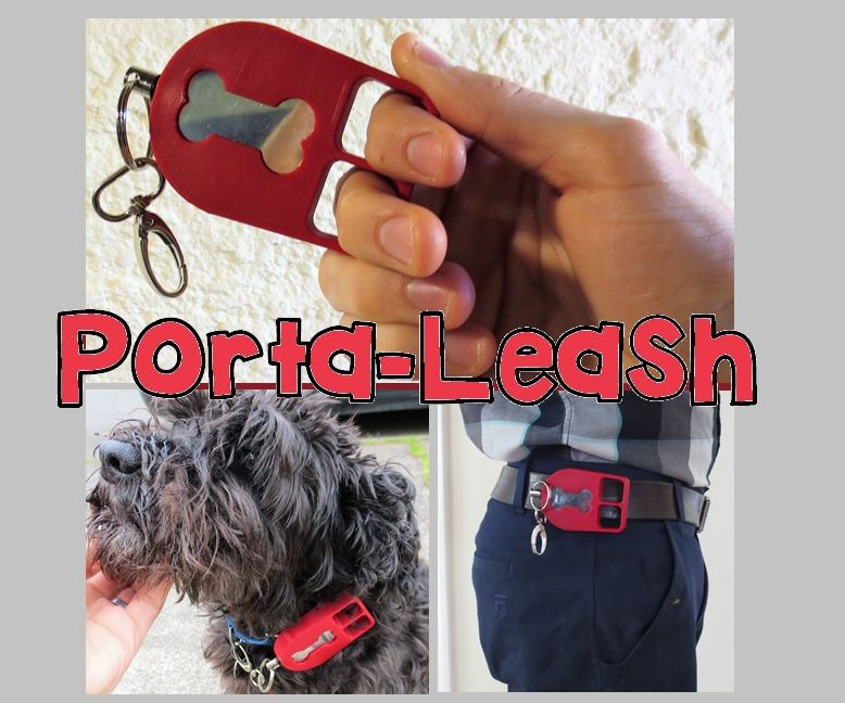 Porta-Leash: Worlds Smallest Retracting Dog Leash