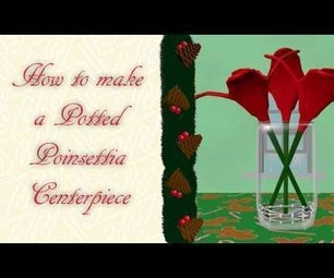 DIY How to Make a Potted Poinsettia Centerpiece | the Mustard Seed Life