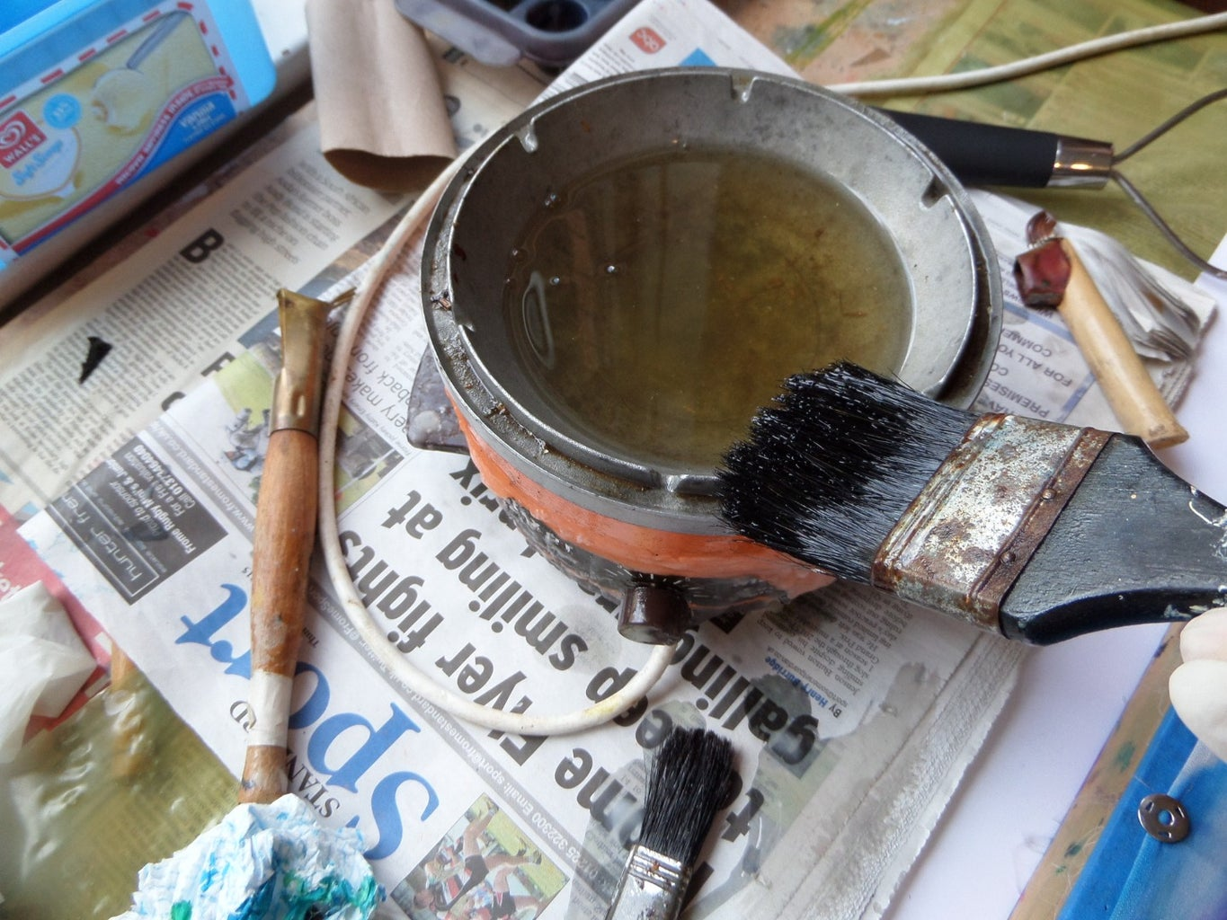 Using  Water Dropper With Wax  + DIY Brushes and Wax