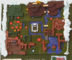 Legend of Zelda LTTP Hyrule World Map Diorama