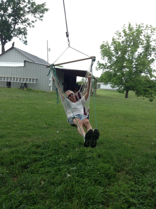 Add Foot Rest to Fathers Hanging Chair