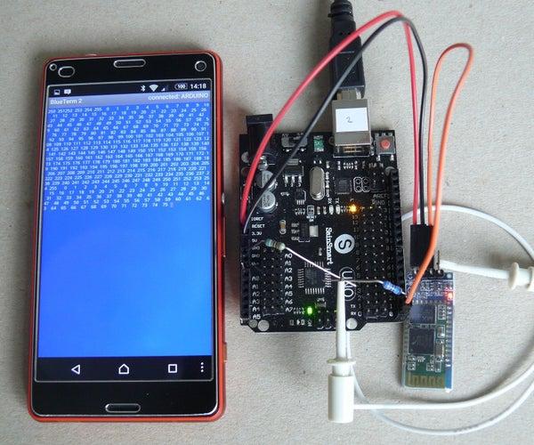 Arduino Smartphone Coms/Serial Monitor Via Bluetooth HC-05, HC-06