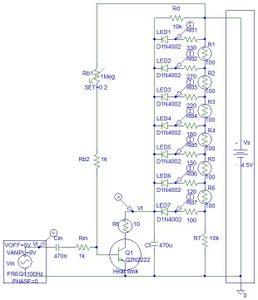 Transistor LED Bar Graph