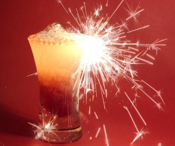 Explosive Cocktail Foam
