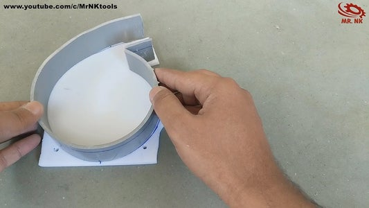 Attach PVC Pipe to Acrylic Sheet