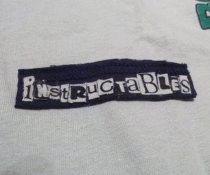 DIY Custom Lettering From Old T-Shirts