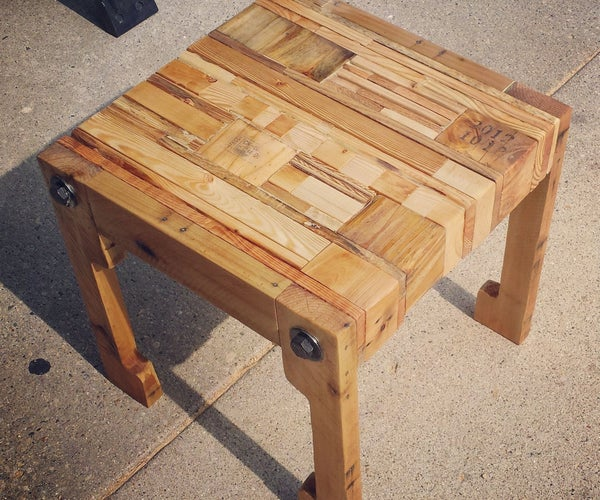 Pallet Wood Table/Seat and Upcycled Pillow