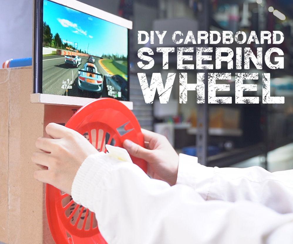 DIY Cardboard Steering Wheel
