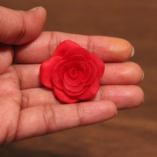How to Make Clay Flower (Rose)