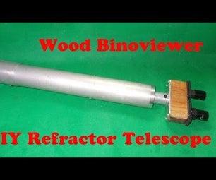 DIY Wood Binoviewer From Nikon Microscope Erecting Prism Homemade Refractor Telescope
