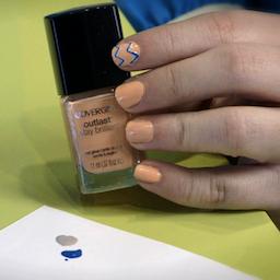 How to Paint Chevron Nail Art