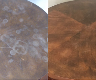 How to Remove Heat & Water Damage From Furniture