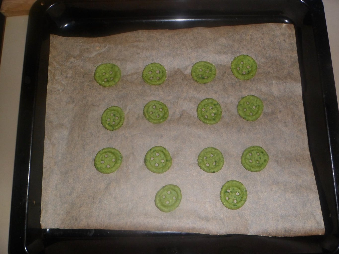 Forming Button Shape Cookies: