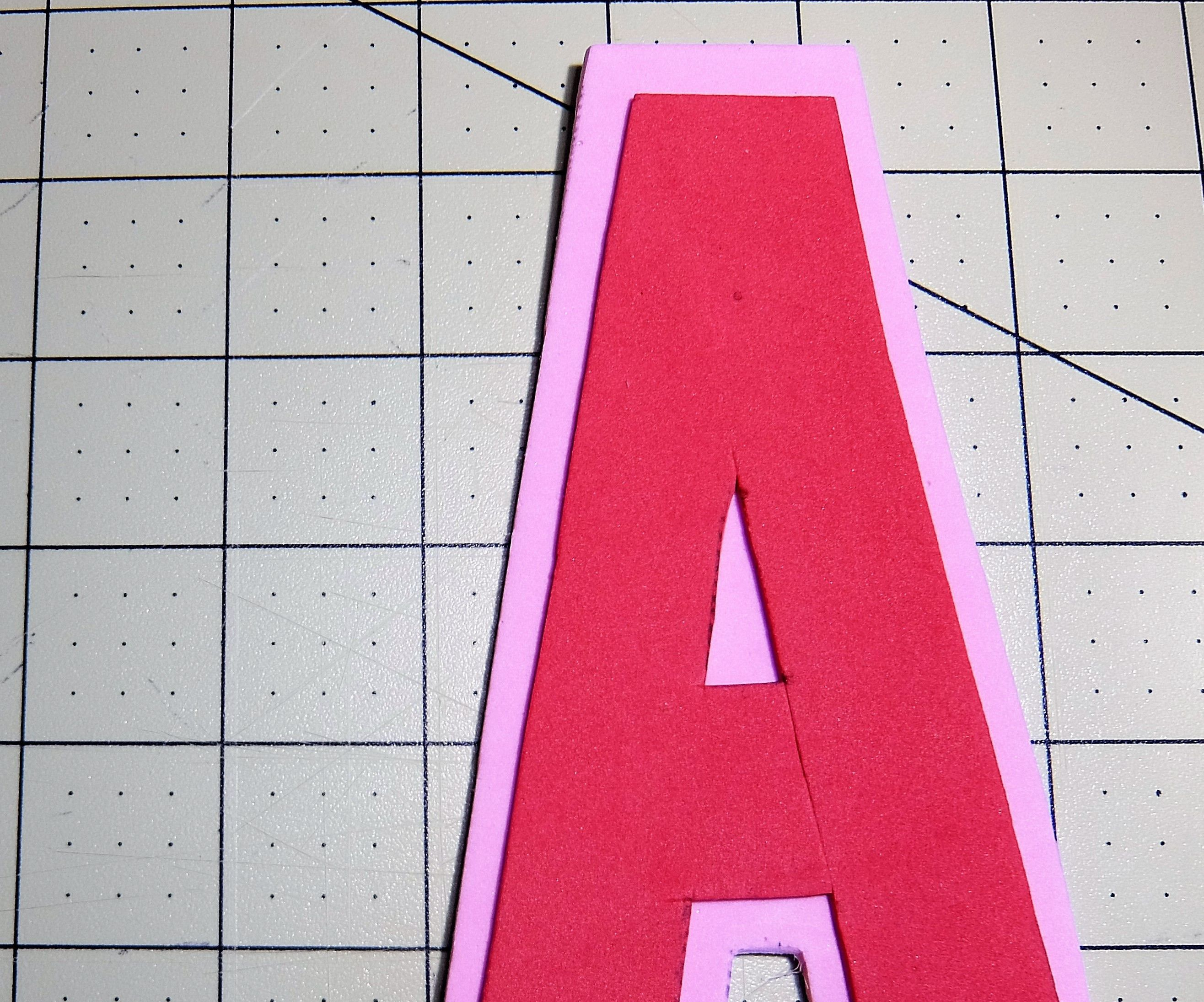 DYI Letter a Using Craft Foam Peel and Stick