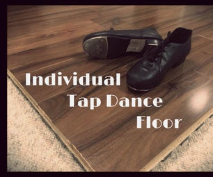 Individual Tap Dance Floor and Exercise Platform Made From Reused Flooring