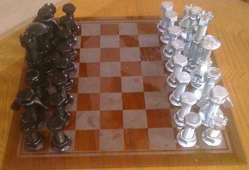 Nuts and Bolts Chessmen