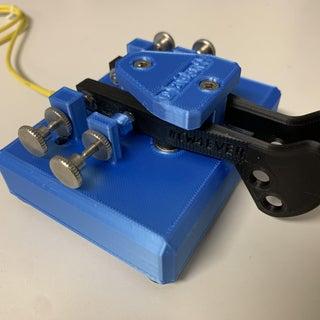 3D Printed Twin Paddle Cw Key (566grs.)