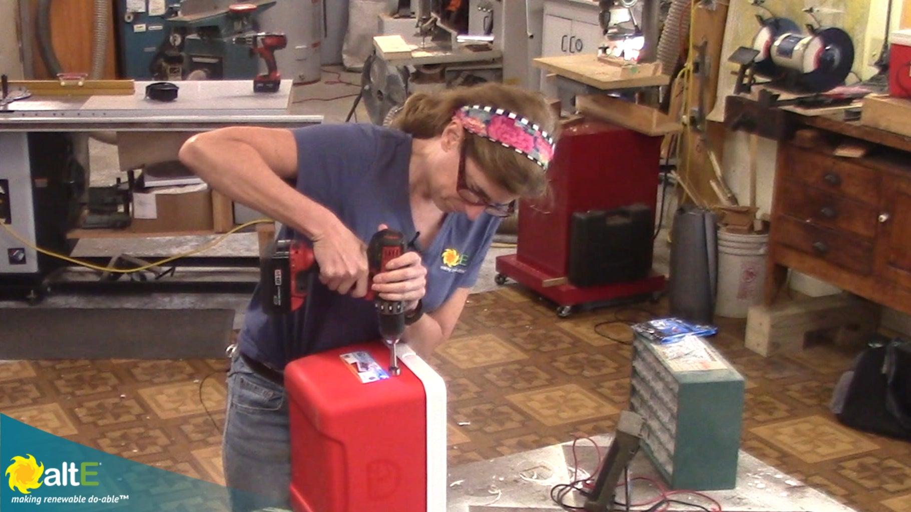 Drill Holes Through Cooler