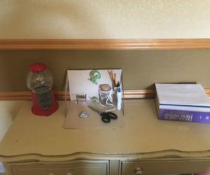 Quick and Easy Cardboard Desk Organizer