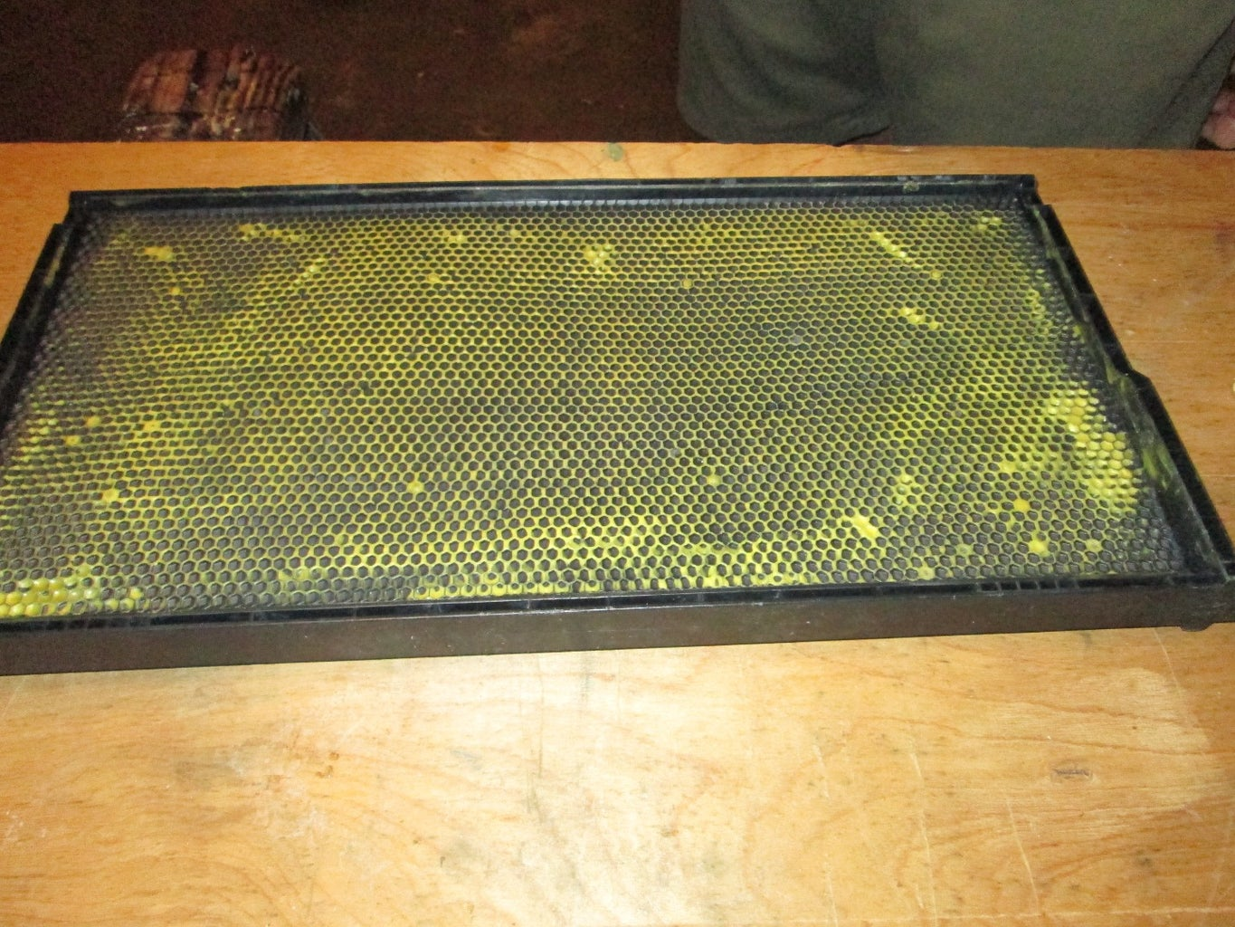 Applying Beeswax to Plastic Beehive Foundations