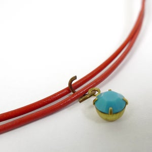Attach Charm to Jump Ring and Then to Leather