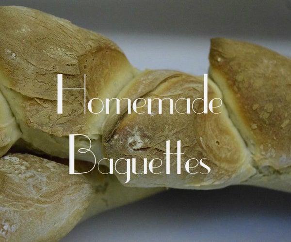Homemade Baguettes (Pain D'epi)