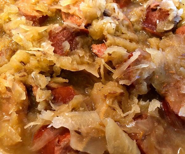 German Sauerkraut and Sausage, in Crock Pot