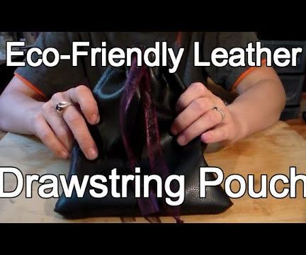 Leather Pouch with Liner from Jacket Sleeve